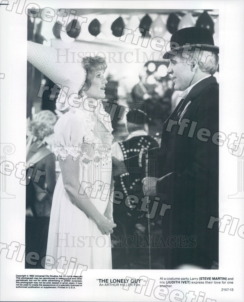 1983 Actors Steve Martin & Judith Ivey in Film The Lonely Guy Press Photo adx155 - Historic Images