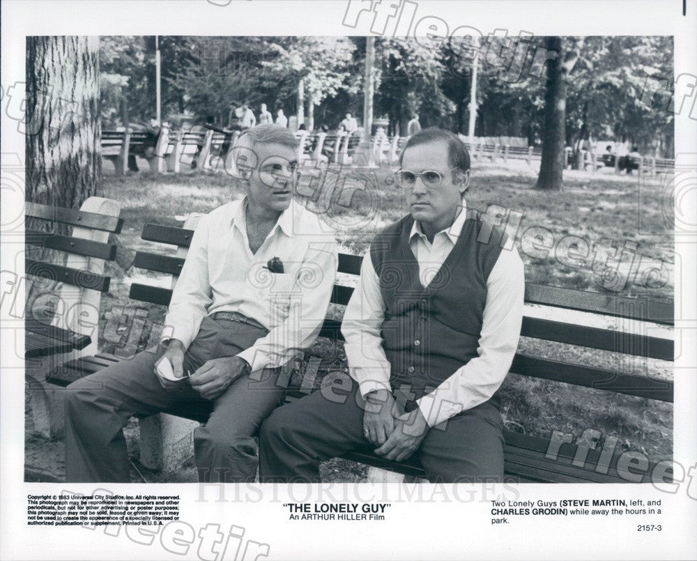 1983 Emmy Winning Actors Steve Martin & Charles Grodin Press Photo adx161 - Historic Images