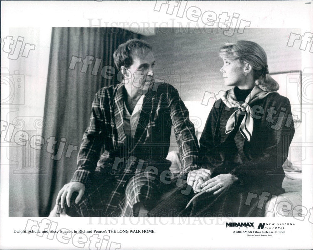 1990 Actors Dwight Schultz & Oscar Winner Sissy Spacek Press Photo adx165 - Historic Images