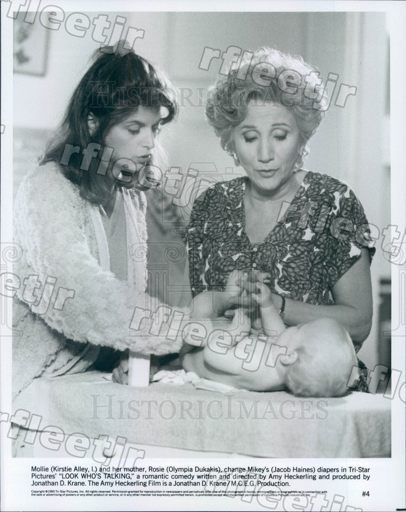 1989 Award Winning Actors Kirstie Alley & Olympia Dukakis Press Photo adx17 - Historic Images
