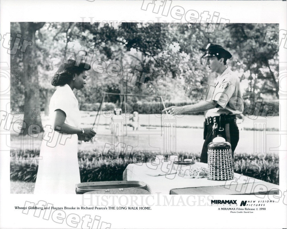 1990 Oscar Winning Actor Whoopi Goldberg & Haynes Brooke Press Photo adx171 - Historic Images