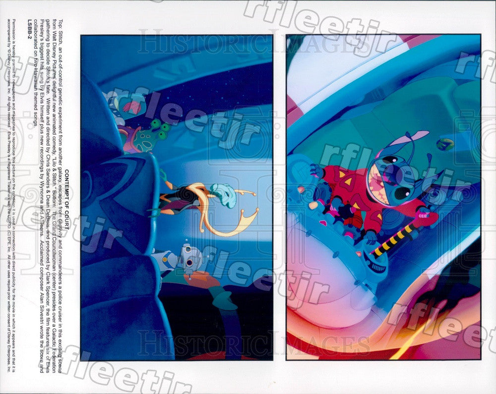 Undated Walt Disney Characters in Film Lilo & Stitch Press Photo adx177 - Historic Images