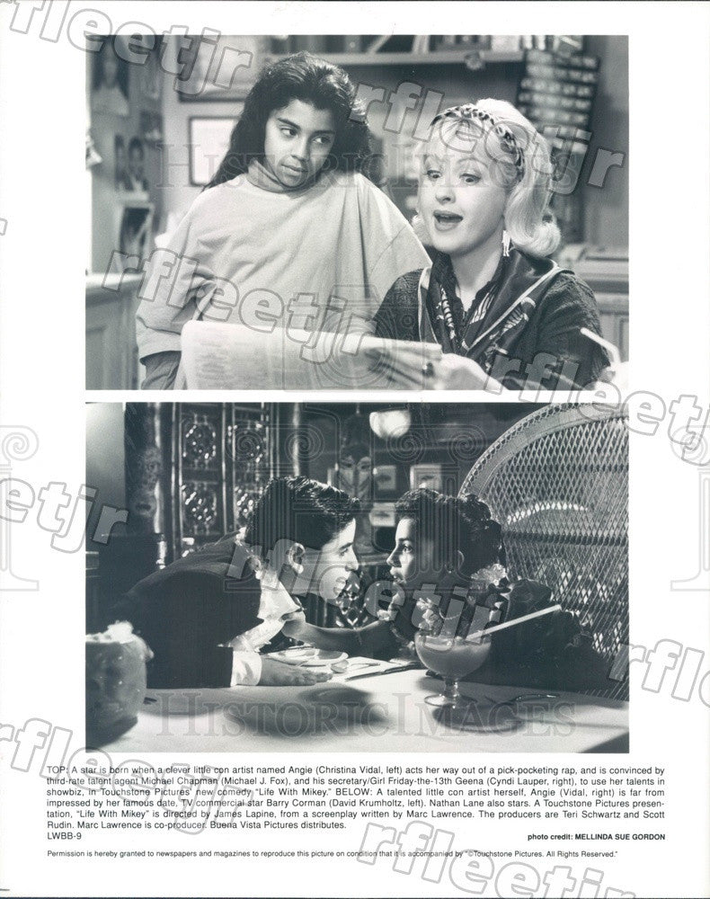 Undated Actors Christina Vidal, Cyndi Lauper, David Krumholtz Press Photo adx199 - Historic Images