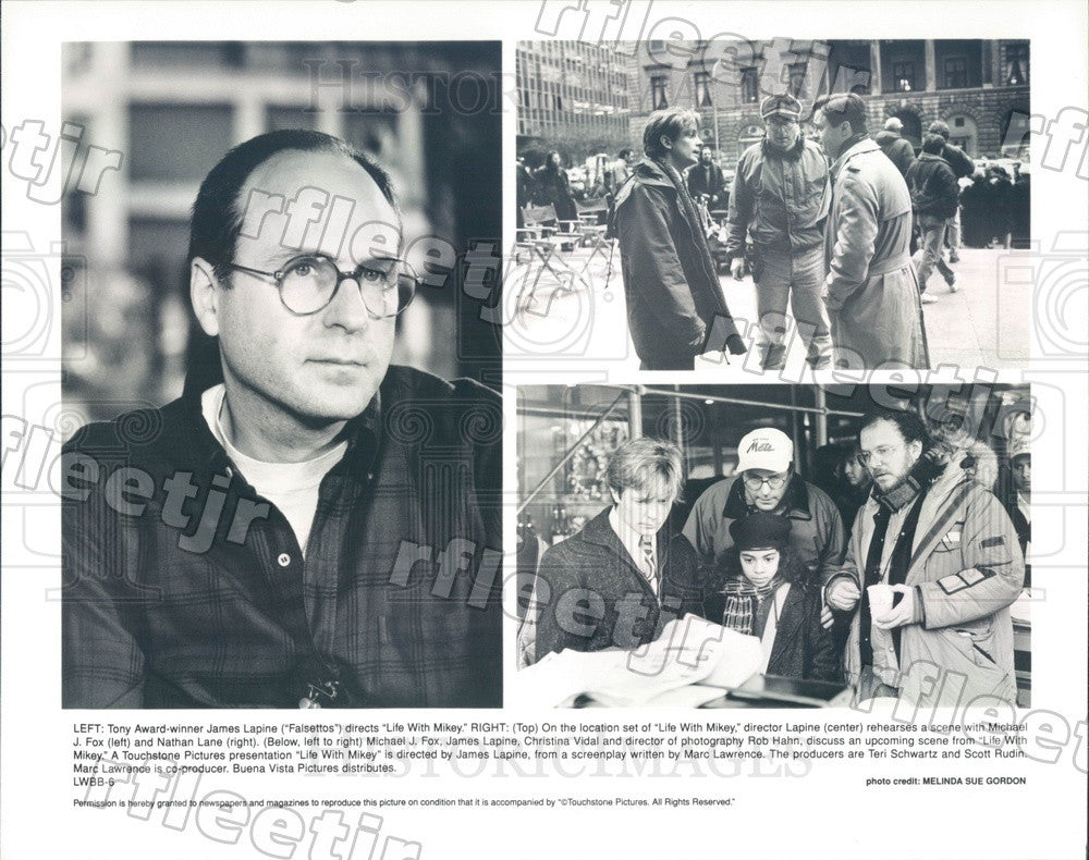Undated Tony Winning Dir James Lapine, Actors Michael J Fox Press Photo adx203 - Historic Images
