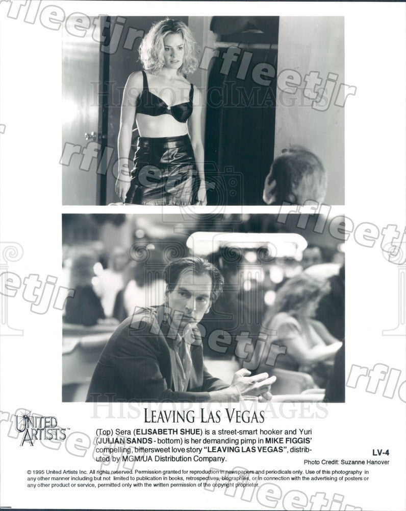 1995 Actors Elisabeth Shue, Julian Sands in Leaving Las Vegas Press Photo adx209 - Historic Images