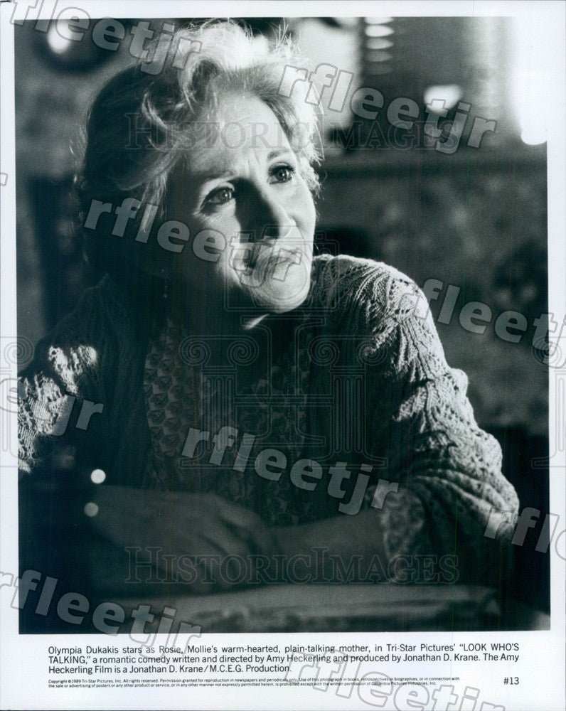 1989 Oscar Winning Actor Olympia Dukakis in Look Who's Talking Press Photo adx21 - Historic Images