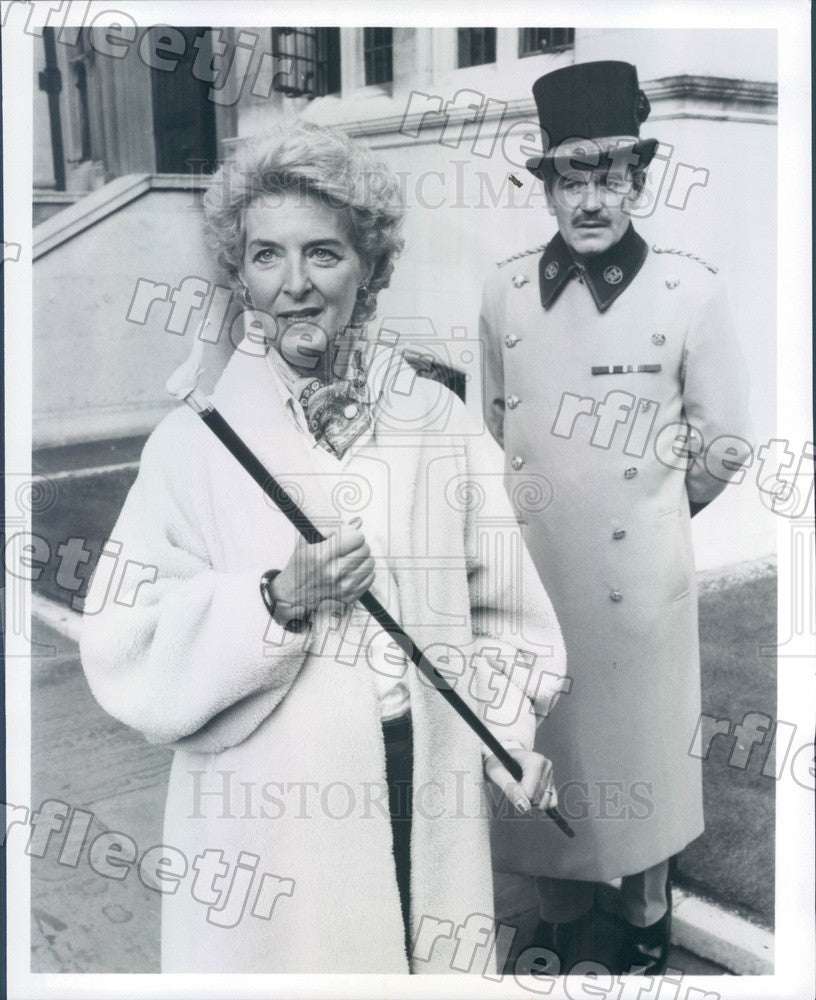 Undated Actors Caroline Blakiston & Brian McGrath on PBS Press Photo adx211 - Historic Images