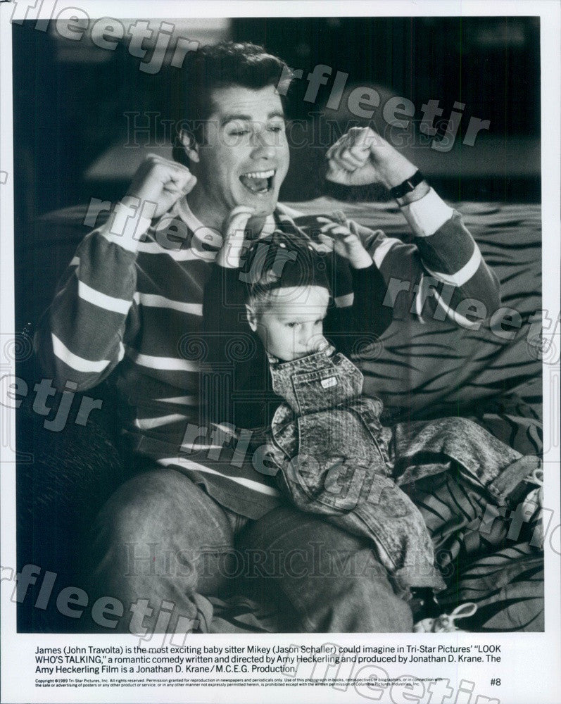 1989 Actors John Travolta & Jason Schaller in Film Press Photo adx23 - Historic Images