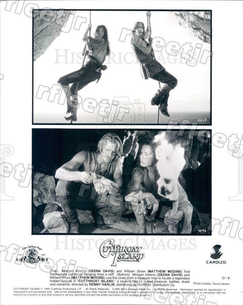 1995 Actors Matthew Modine & Oscar Winner Geena Davis in Film Press Photo adx245 - Historic Images