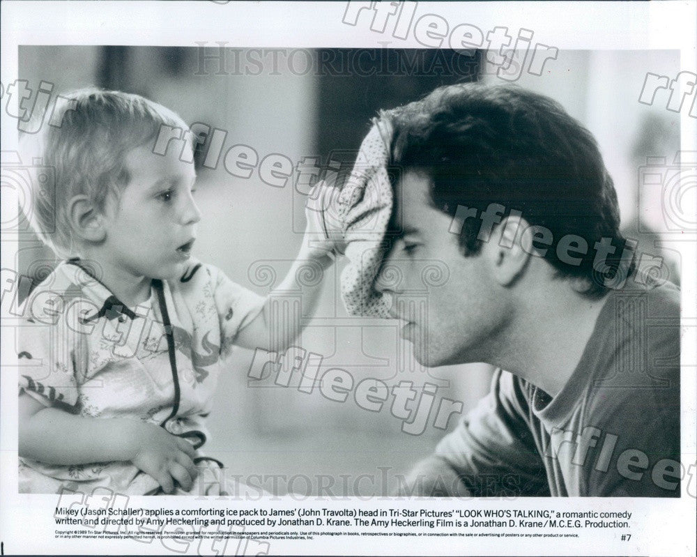1989 Actors John Travolta & Jason Schaller in Film Press Photo adx25 - Historic Images