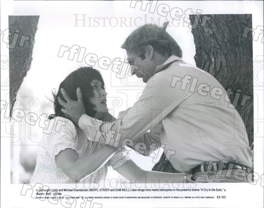 1988 Oscar Winning Actor Meryl Streep & Sam Neill in Film Press Photo adx253 - Historic Images