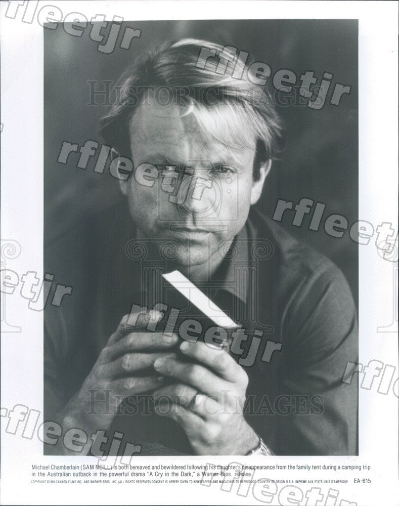 1988 New Zealand Actor Sam Neill in Film A Cry in the Dark Press Photo adx255 - Historic Images