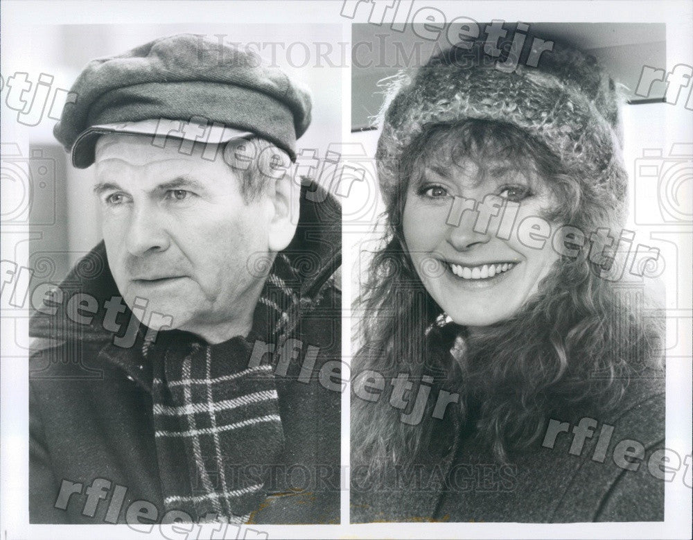 Undated Actors Mel Martin & Tony Winner Ian Holm on PBS Press Photo adx257 - Historic Images