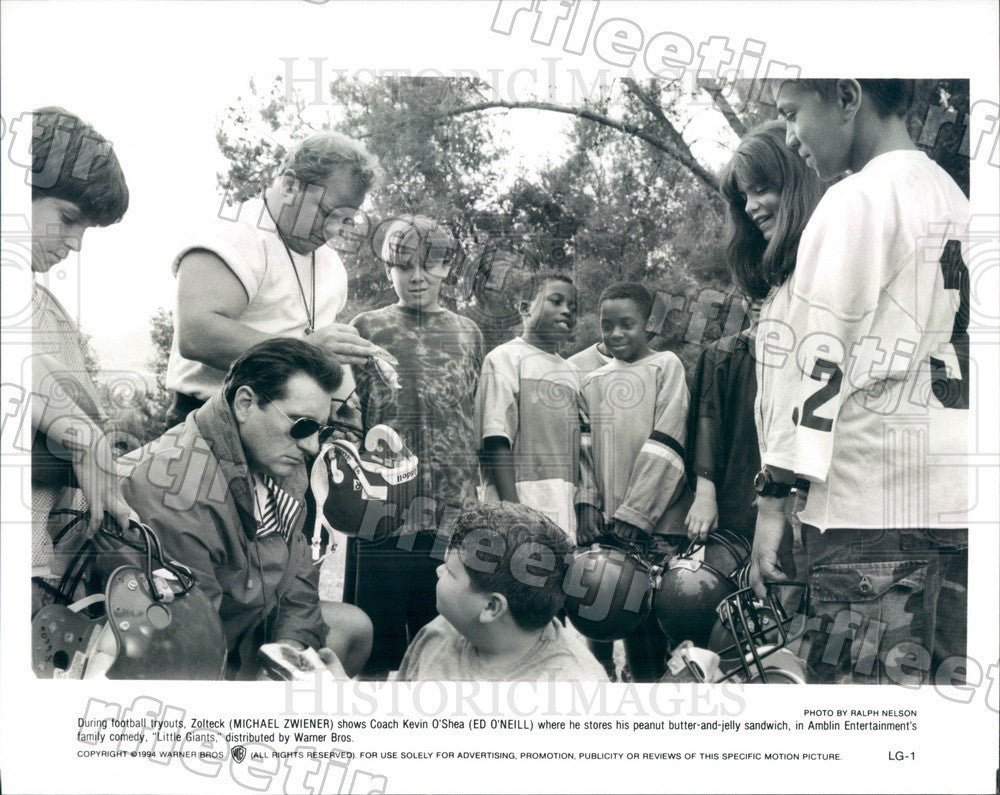 1994 Actors Michael Zwiener, Ed O'Neill in Film Little Giants Press Photo adx275 - Historic Images