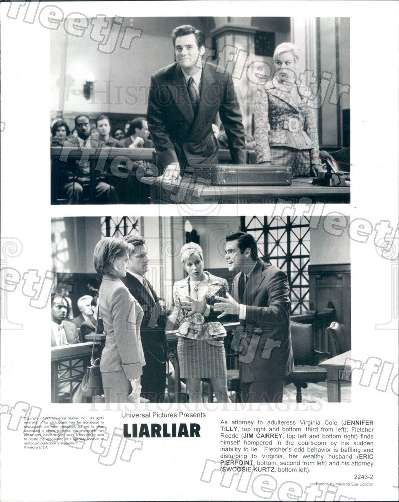 1997 Actors Jennifer Tilly, Jim Carrey, Eric Pierpoint Press Photo adx281 - Historic Images