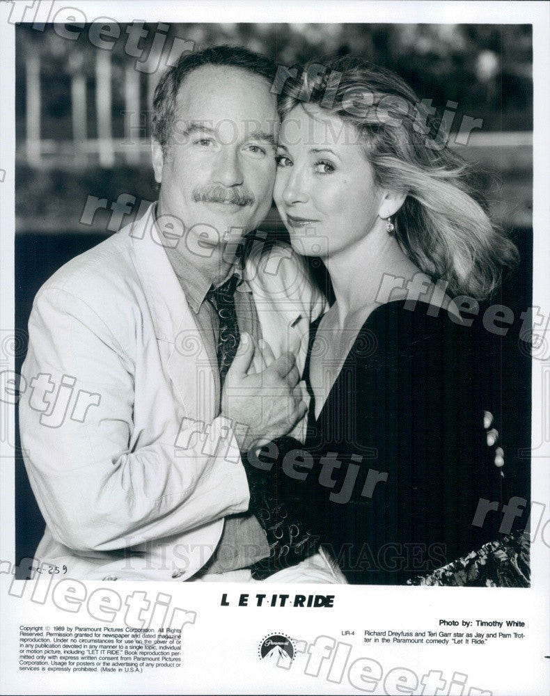 1989 Oscar Winning Actor Richard Dreyfuss & Teri Garr in Film Press Photo adx293 - Historic Images