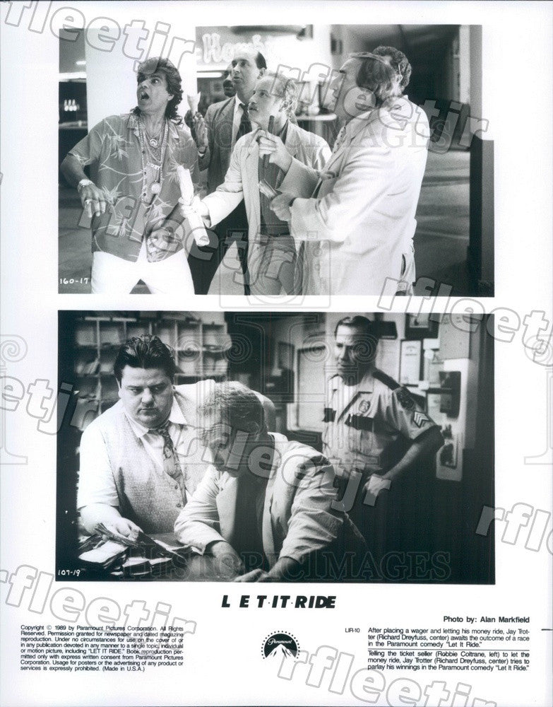 1989 Oscar Winning Actor Richard Dreyfuss & Robbie Coltrane Press Photo adx295 - Historic Images
