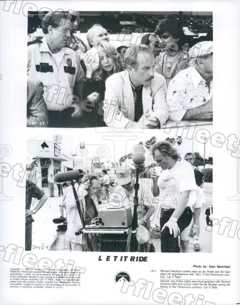 1989 Oscar Winning Actor Richard Dreyfuss, Teri Garr Press Photo adx297 - Historic Images