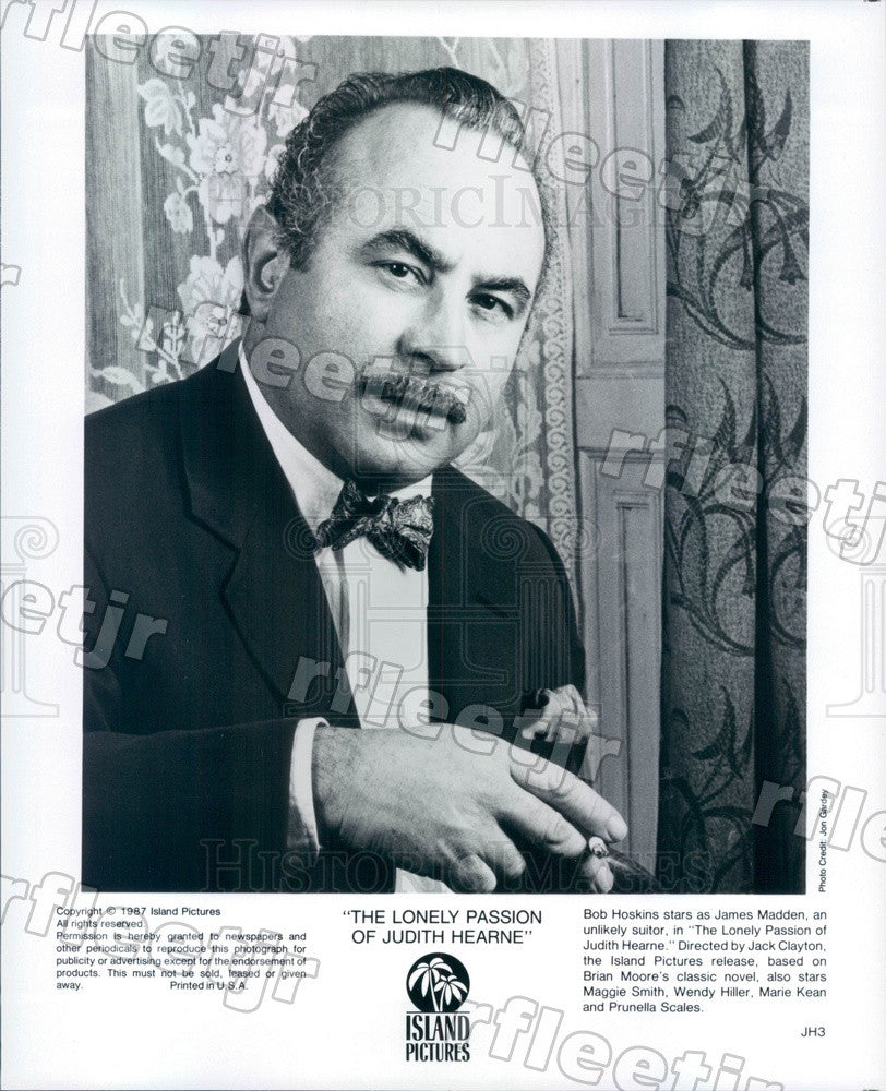 1987 Emmy Winning British Actor Bob Hoskins in Film Press Photo adx305 - Historic Images
