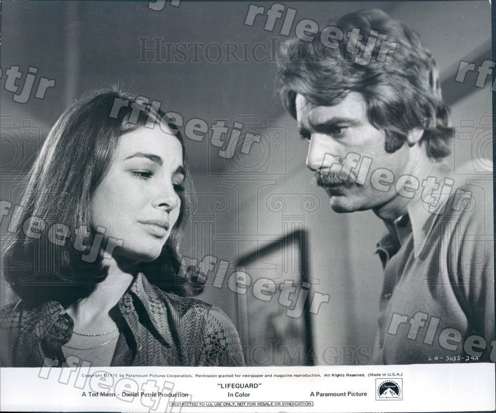 1975 Actors Sam Elliott & Anne Archer in Film Lifeguard Press Photo adx31 - Historic Images