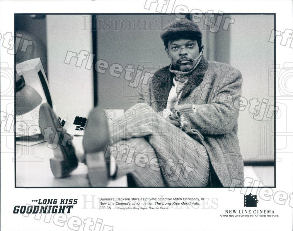 1996 Actor Samuel L. Jackson in Film The Long Kiss Goodnight Press Photo adx311 - Historic Images