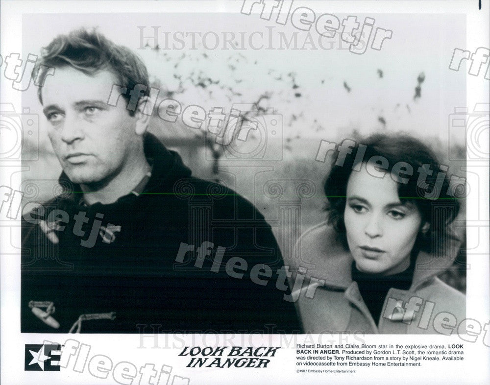 1987 Actors Richard Burton & Claire Bloom in Film Press Photo adx321 - Historic Images