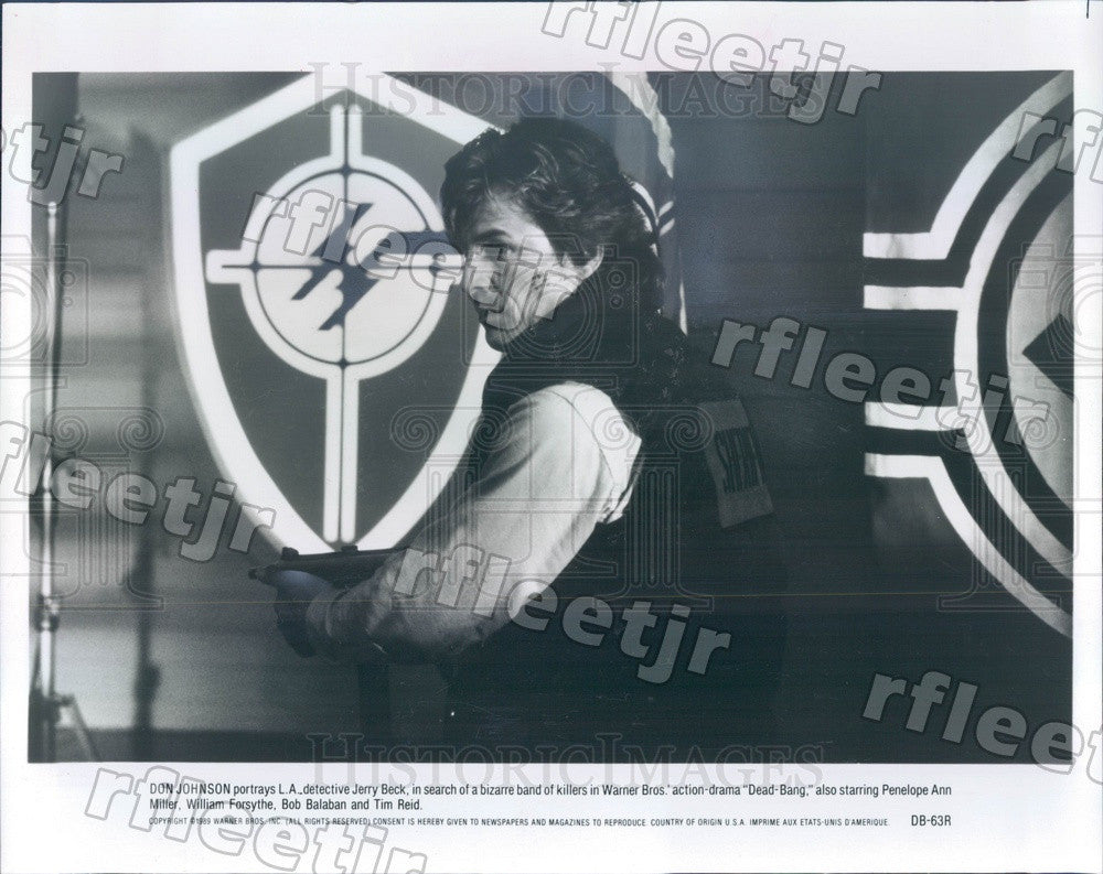 1989 American Actor Don Johnson in Film Dead-Bang Press Photo adx339 - Historic Images