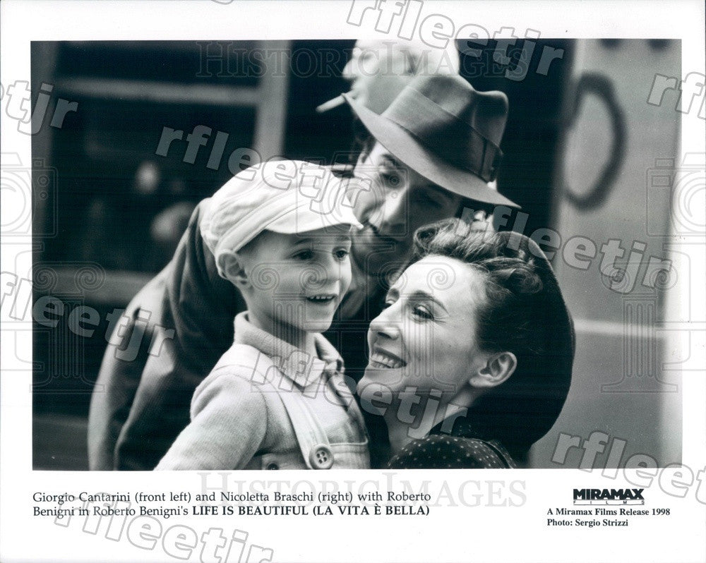 1998 Actors Giorgio Cantarini, Nicoletta Braschi, Roberto Press Photo adx363 - Historic Images