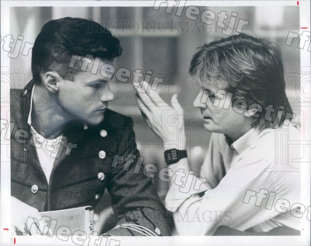 1983 Actor David Keith, Director Franc Roddam Filming Press Photo adx365 - Historic Images