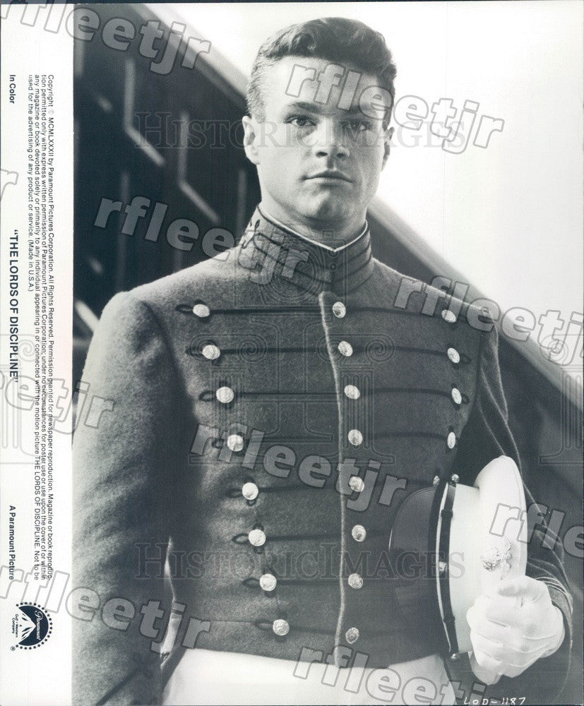 1982 Actor David Keith in Film The Lords Of Discipline Press Photo adx369 - Historic Images