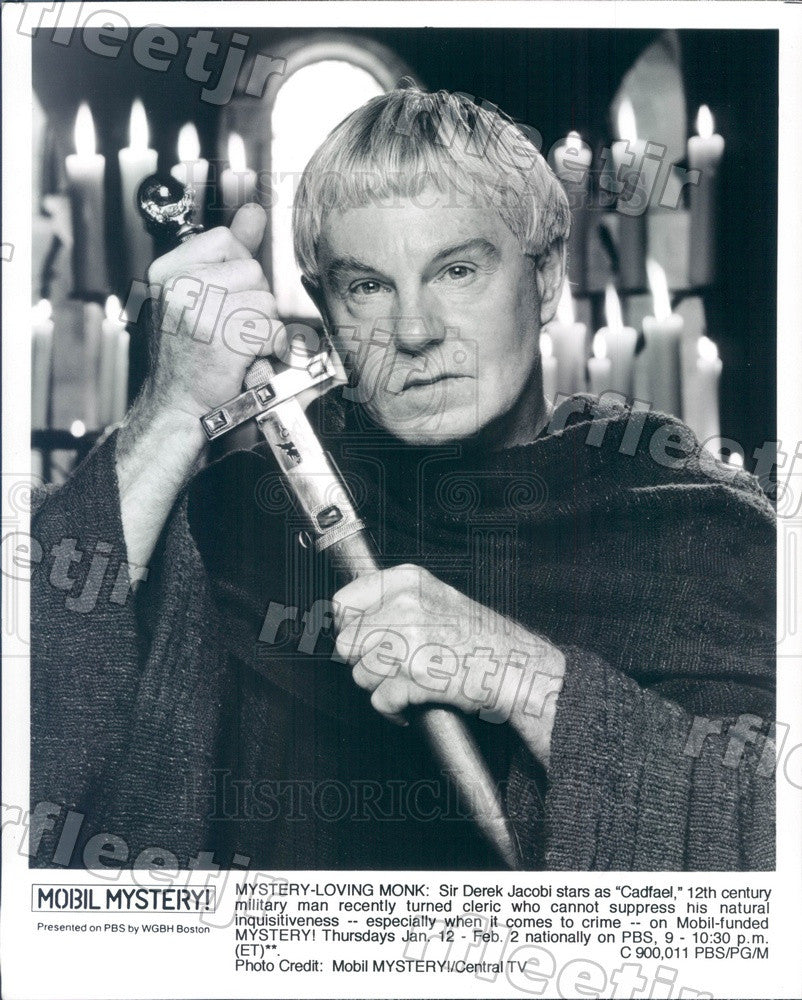 2008 Tony Winning British Actor Derek Jacobi on PBS Mystery! Press Photo adx381 - Historic Images