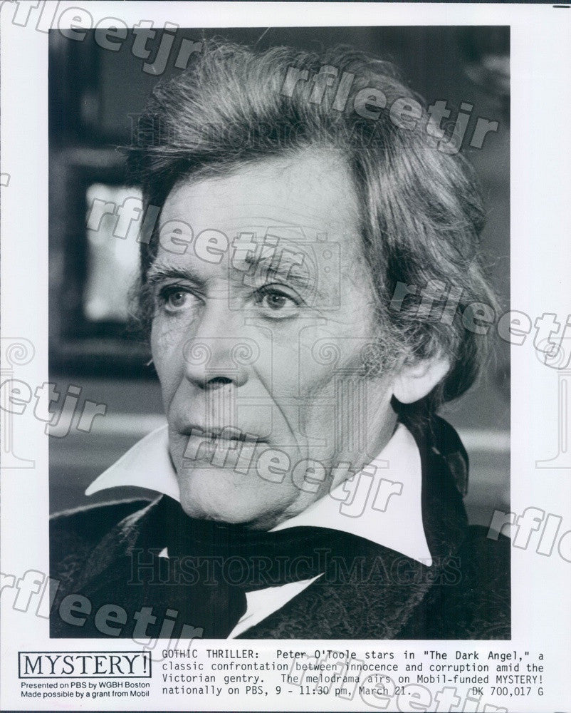 Undated Emmy Winning Actor Peter O'Toole on PBS Show Mystery! Press Photo adx387 - Historic Images