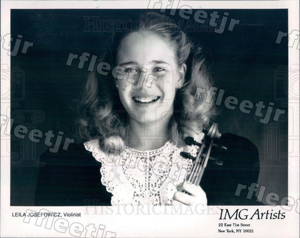 1992 American/Canadian Classical Violinist Leila Josefowicz Press Photo adx419 - Historic Images