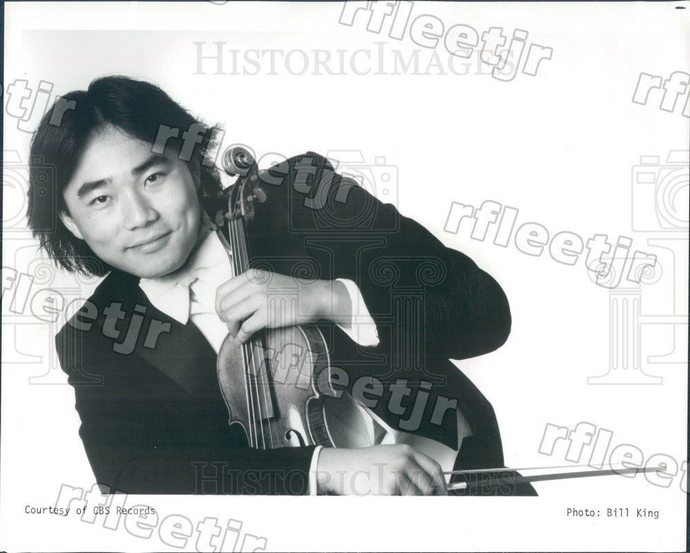 1986 Taiwanese American Violinist Cho-Liang Lin Press Photo adx435 - Historic Images