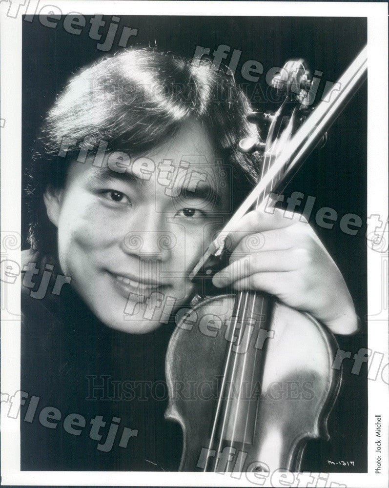 1986 Taiwanese American Violinist Cho-Liang Lin Press Photo adx441 - Historic Images