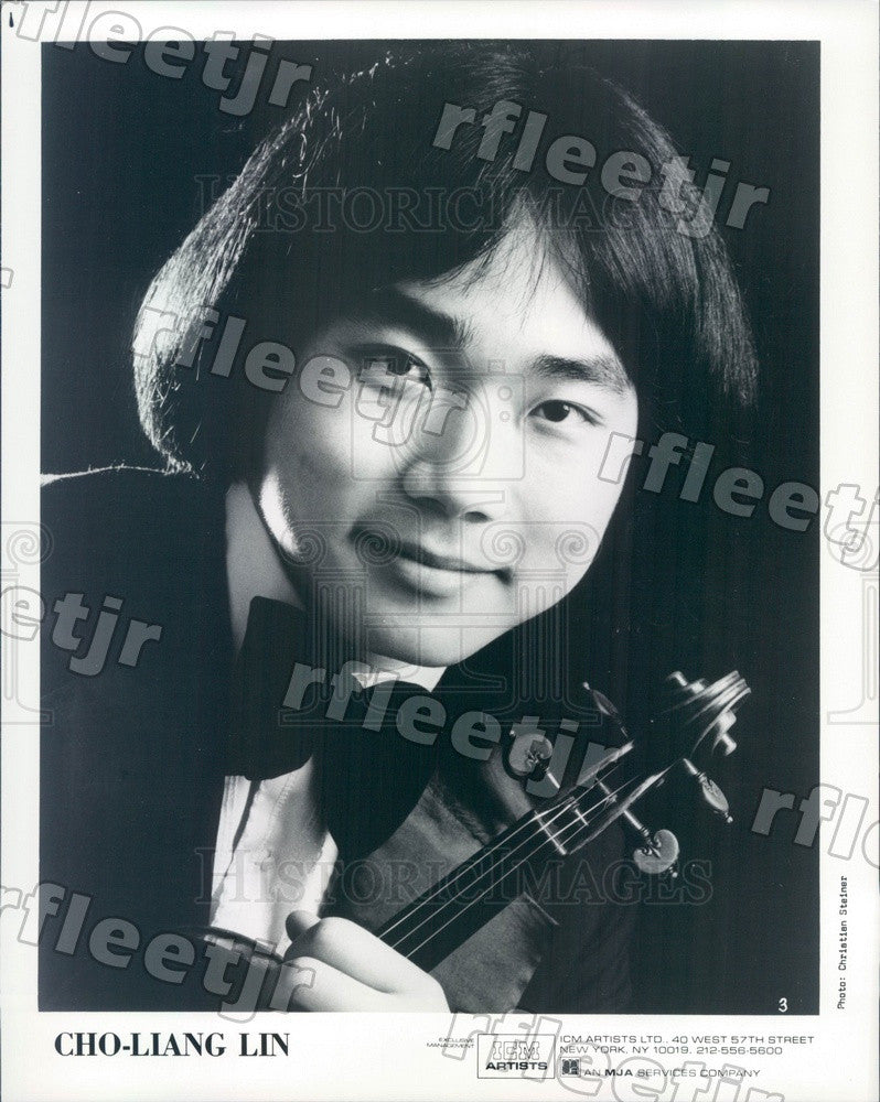 1984 Taiwanese American Violinist Cho-Liang Lin Press Photo adx443 - Historic Images