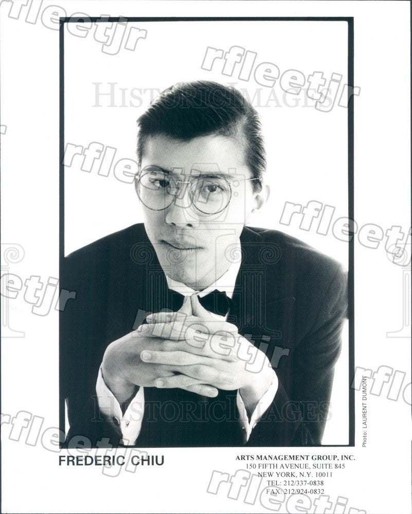 2000 Chinese American Classical Pianist Frederic Chiu Press Photo adx453 - Historic Images
