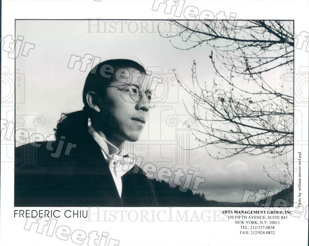 2000 Chinese American Classical Pianist Frederic Chiu Press Photo adx455 - Historic Images
