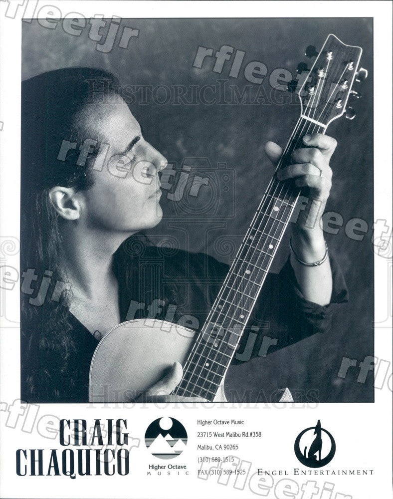 1995 American Guitarist Craig Chaquico Press Photo adx459 - Historic Images