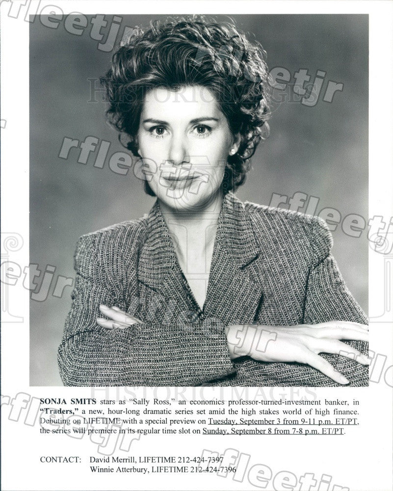 Undated Canadian Actress Sonja Smits on TV Show Traders Press Photo adx469 - Historic Images