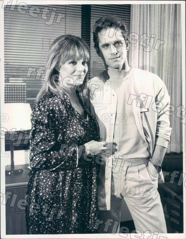 1985 Actors Gregory Harrison & Sheree North on TV Show Press Photo adx477 - Historic Images