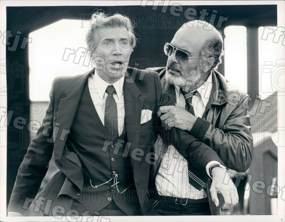 1982 Actors Pernell Roberts & Joe Campanella Press Photo adx489 - Historic Images