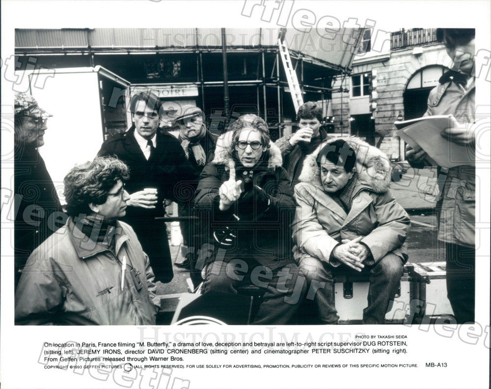 1993 Oscar Winning Actor Jeremy Irons, Dir David Cronenberg Press Photo adx49 - Historic Images