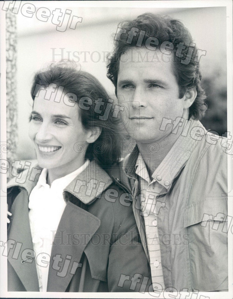 1985 Actors Gregory Harrison & Andrea Marcovicci on TV Show Press Photo adx495 - Historic Images