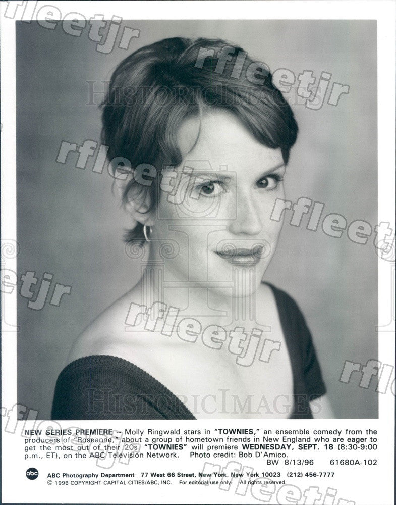 1996 American Actress Molly Ringwald Press Photo adx509 - Historic Images