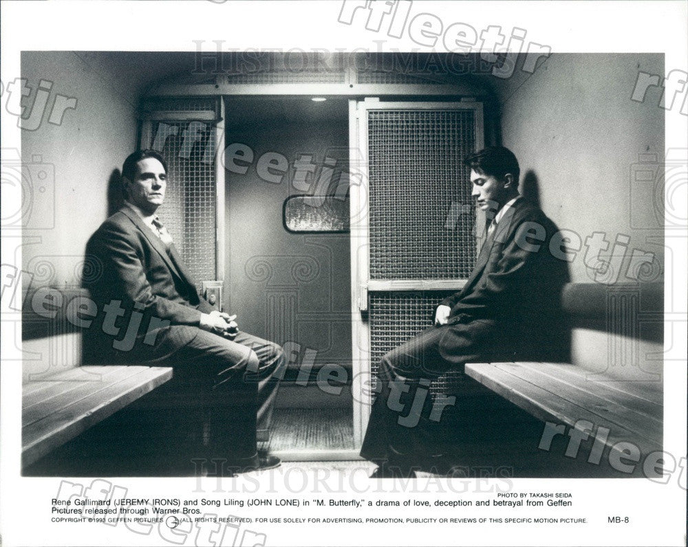 1993 Actors Jeremy Irons & John Lone in Film M. Butterfly Press Photo adx51 - Historic Images