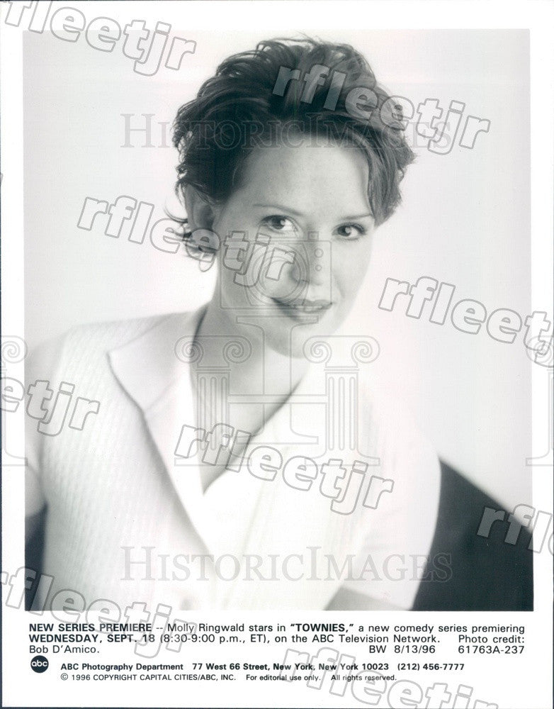 1996 American Actress Molly Ringwald Press Photo adx511 - Historic Images