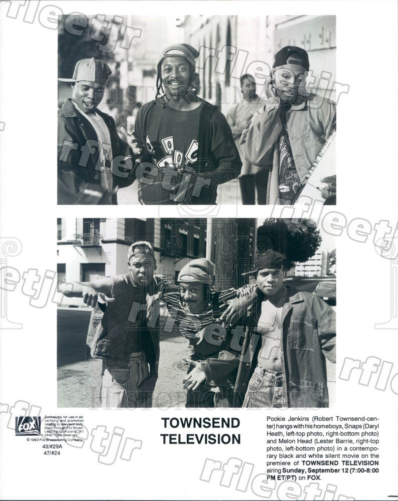1993 Actors Robert Townsend, Daryl Heath, Lester Barrie Press Photo adx513 - Historic Images
