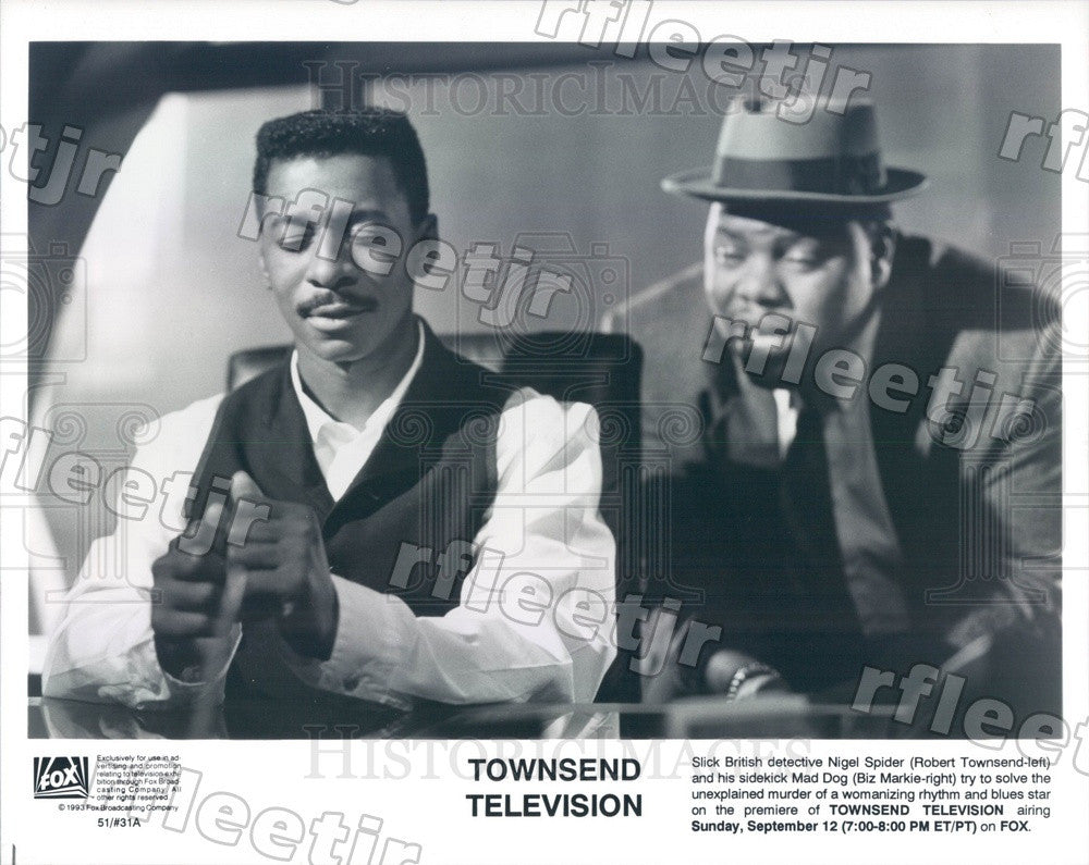 1993 Actors Robert Townsend & Biz Markie on TV Show Townsend Press Photo adx515 - Historic Images