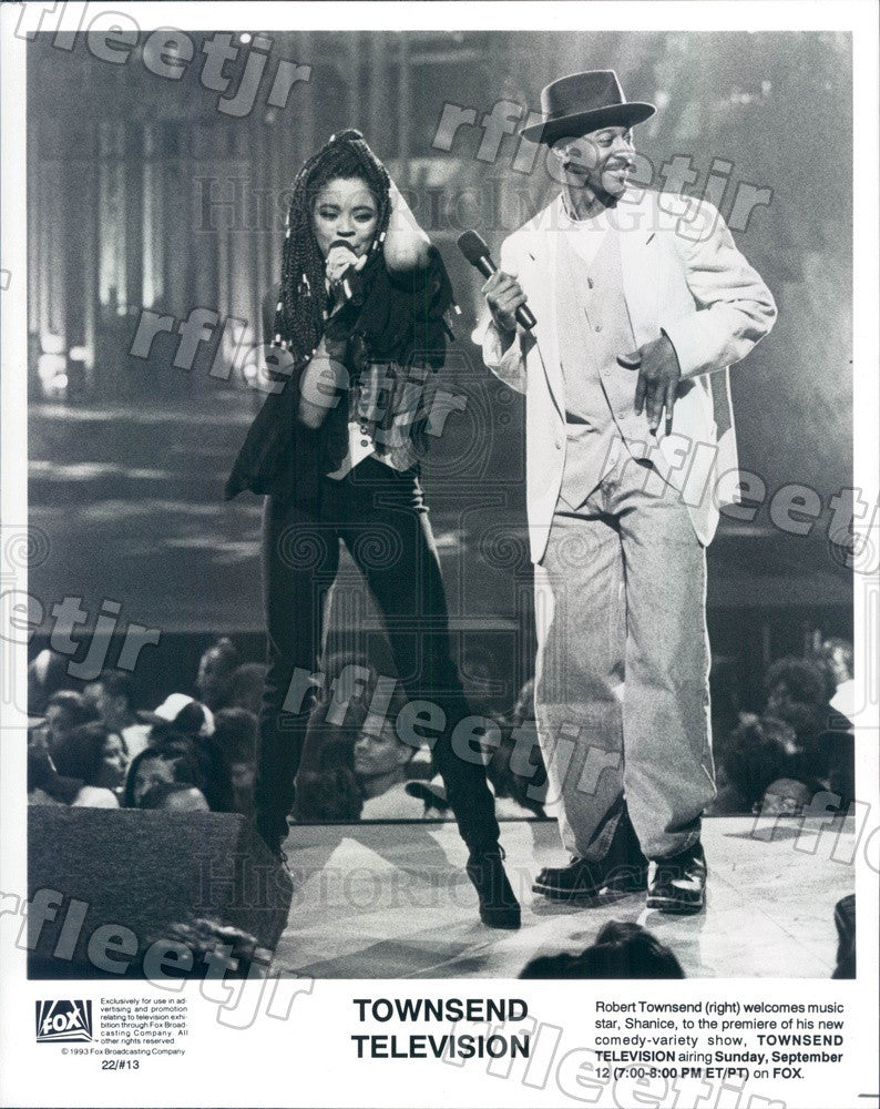 1993 Actor Robert Townsend & Singer Shanice on TV Show Press Photo adx519 - Historic Images